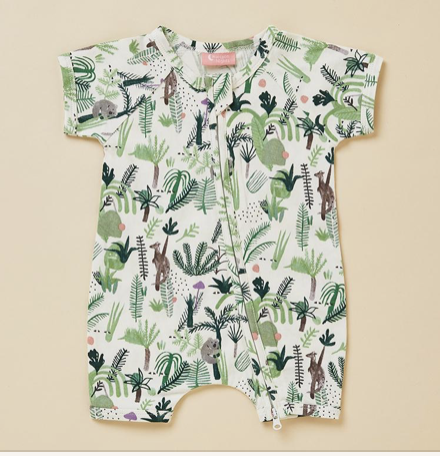 FERN GULLY - SHORT SLEEVE ZIP SUIT