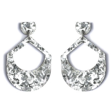 LARGE DROP EARRINGS - SILVER
