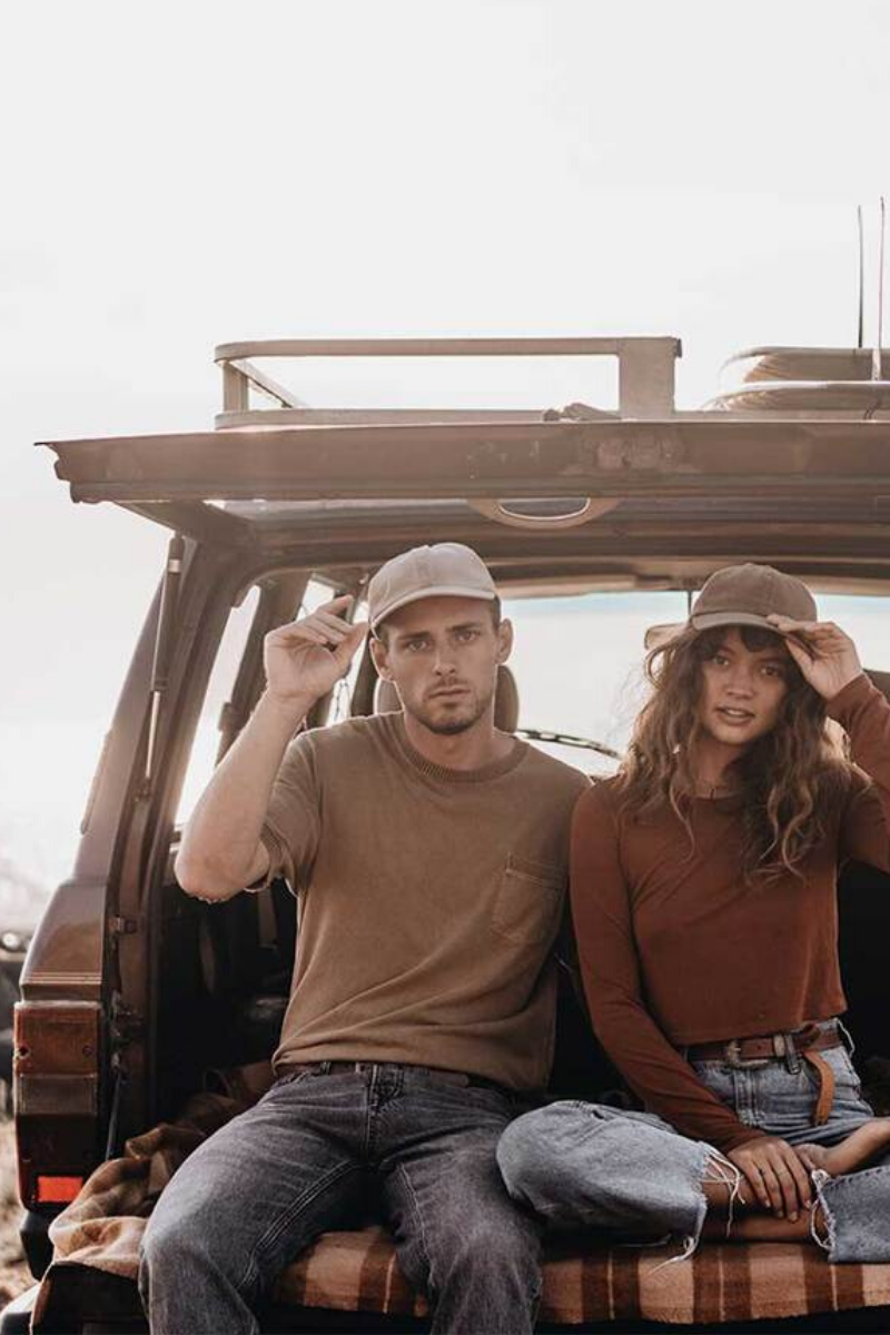 Will And Bear Walker Cap In Bone A Mens Or Womens Australian Hats Lifestyle Image In Car