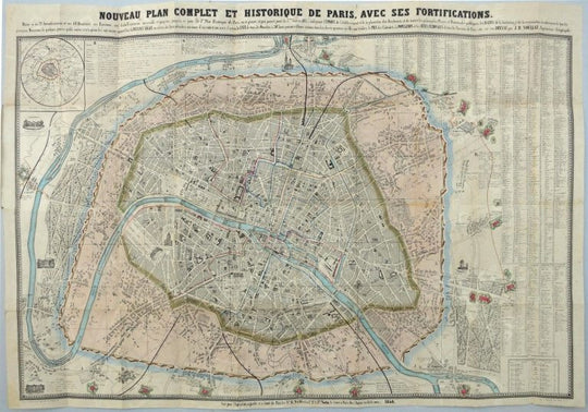 Paris ville city plan
