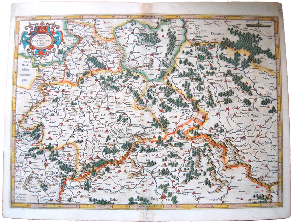 Germany Antique Original Mercator Map Deutschland Landkarte Saxonia
