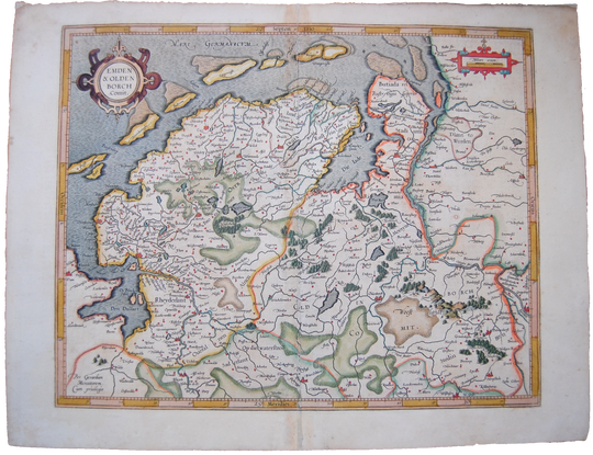 Germany Saxony Antique Original Mercator Map Emden & Olden Deutschland Landkarte