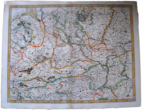 Germany Antique Original Mercator Map Westfalia Deutschland Landkarte