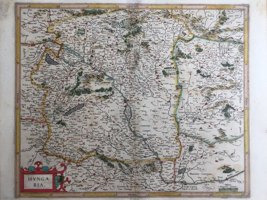 Hungary Antique Original Mercator Map Transilvania