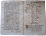Antique Original Mercator France Map Landkarte Alsatia inferior Alsace