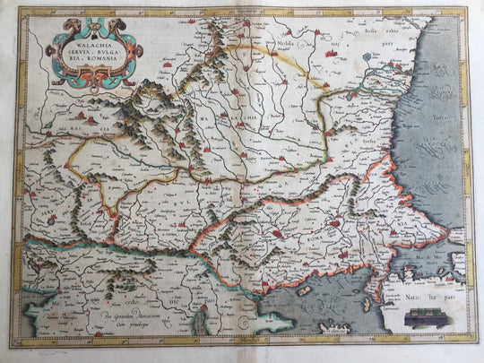 Walachia Romania Serbia Bulgaria Original Mercator Map Balkans Greece Turkey