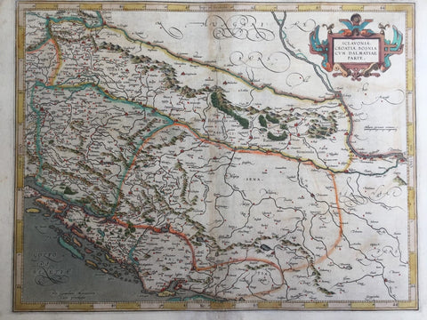 Slovenia Croatia Bosnia Original Antique Mercator Map Balkans Dalmatia Serbia