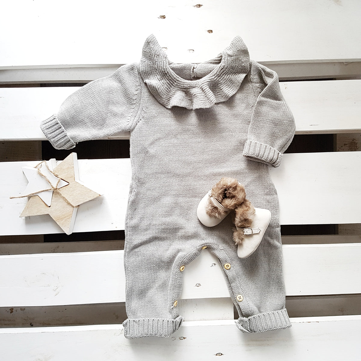 Lola - Baby Knitted Romper
