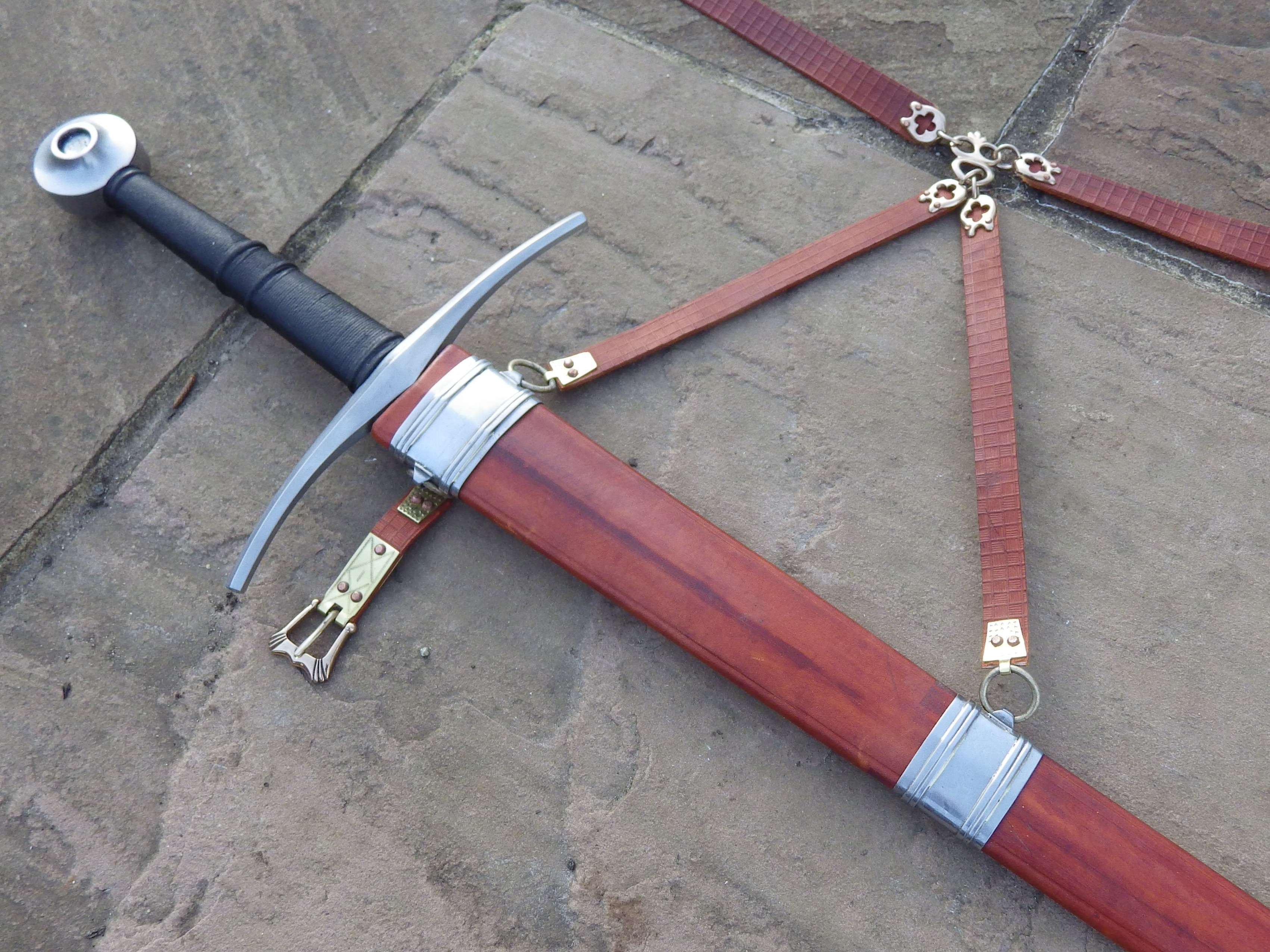 What Is Leather Made Of >> 14th and 15thC medieval sword scabbard with hangers - Steel - Tod's Workshop
