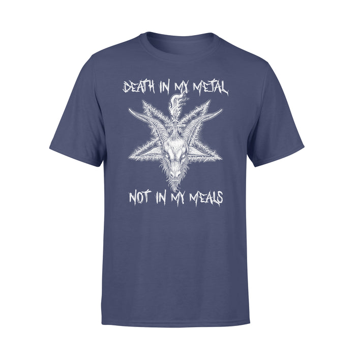 WildFreeSpirit Vegan Shirts Death In My Metal Not In My Meals - Standard T-shirt