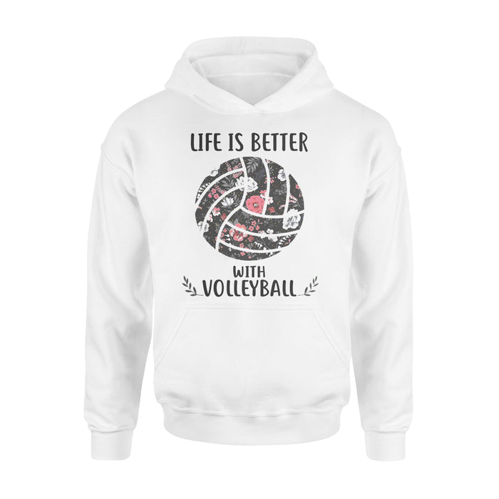 WildFreeSpirit Volleyball Shirts Life Is Better With Volleyball - Standard Hoodie