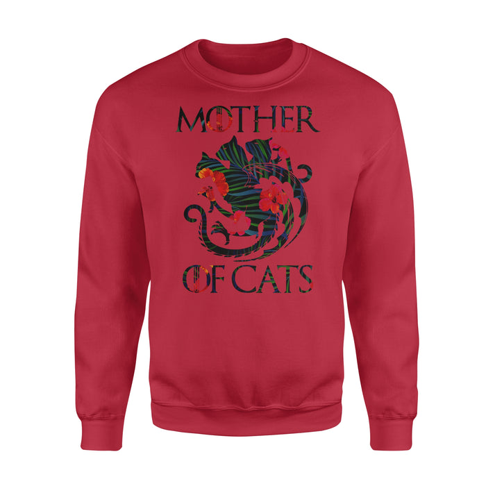 WildFreeSpirit Cat T Shirt Mother Of Cat - Standard Fleece Sweatshirt