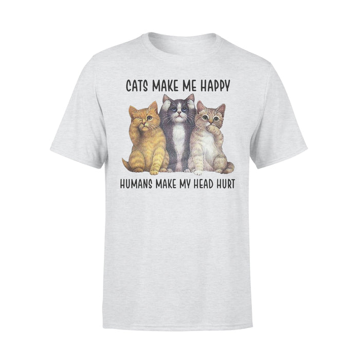 WildFreeSpirit Cat T Shirt Cats Make Me Happy - Standard T-shirt