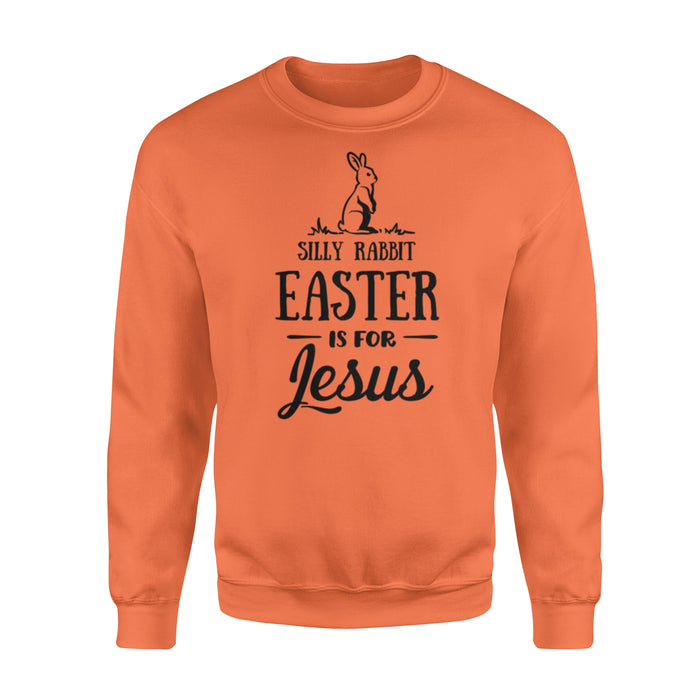 WildFreeSpirit Jesus Shirt Funny Christian T Shirts Silly Rabbit Easter Is For Jesus - Standard Fleece Sweatshirt