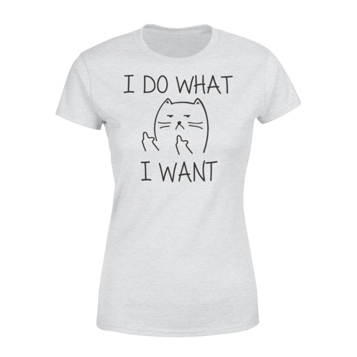 WildFreeSpirit Cat T Shirt I Do What I Want - Standard Women's T-shirt