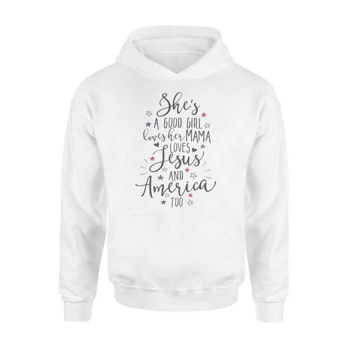 WildFreeSpirit Jesus Shirt She's A Good Girl Loves Her Mama Shirt - Standard Hoodie