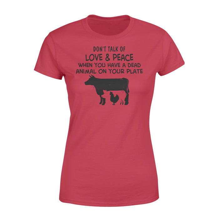 WildFreeSpirit Vegan Shirts Animal Love And Peace - Standard Women's T-shirt