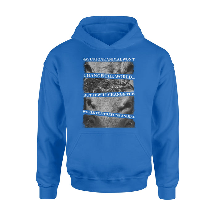 WildFreeSpirit Vegan Shirts Saving one animals - Standard Hoodie