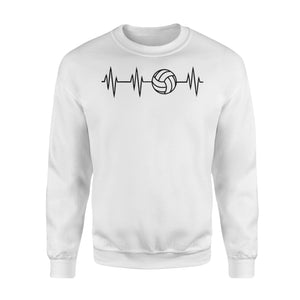 WildFreeSpirit Volleyball Shirts Volleyball Heartbeat - Standard Fleece Sweatshirt