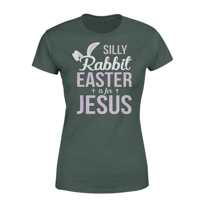WildFreeSpirit Jesus Shirt Funny Christian T Shirt Silly Rabbit Easter Is For Jesus - Standard Women's T-shirt