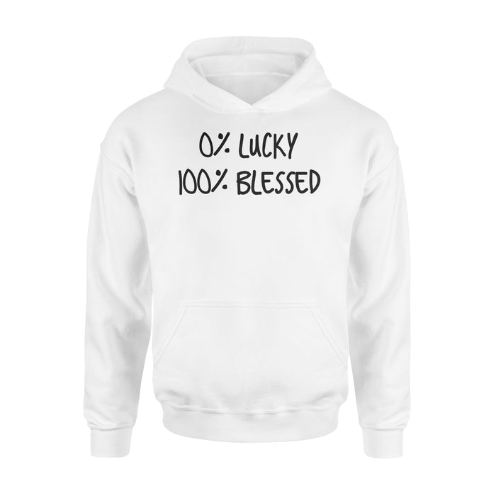 WildFreeSpirit Jesus Shirt Funny Christian T Shirts 0 Lucky 100 Blessed Cute Shirt - Standard Hoodie