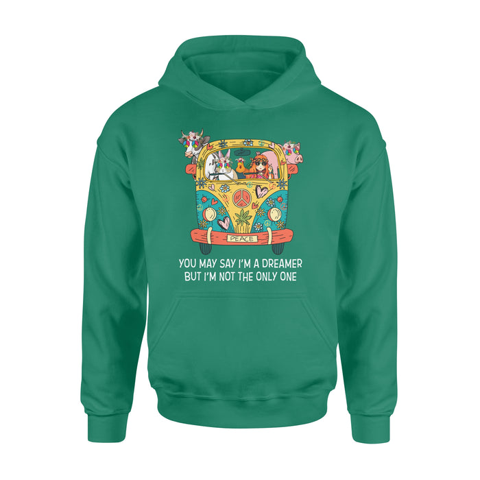 WildFreeSpirit Vegan Shirts  Hippie You May Say I'm A Dreamer - Standard Hoodie