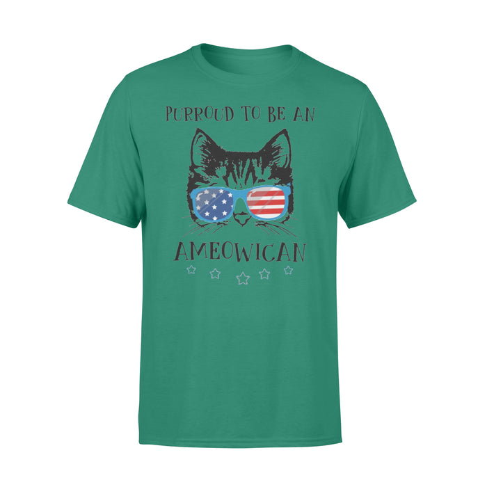 WildFreeSpirit Cat T Shirt American Purroud To Be An Ameowicat - Standard T-shirt