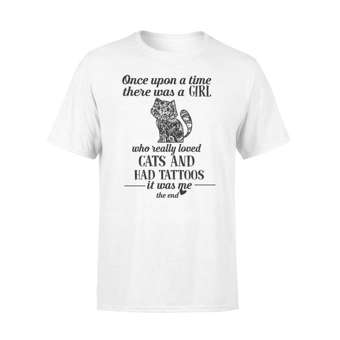 WildFreeSpirit Cat T Shirt Tattoo Once Upon A Time There Was A Girl copy - Standard T-shirt