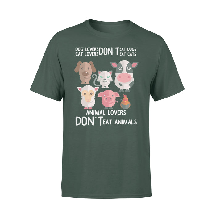 WildFreeSpirit Vegan Shirts Dog Cat Lover - Standard T-shirt