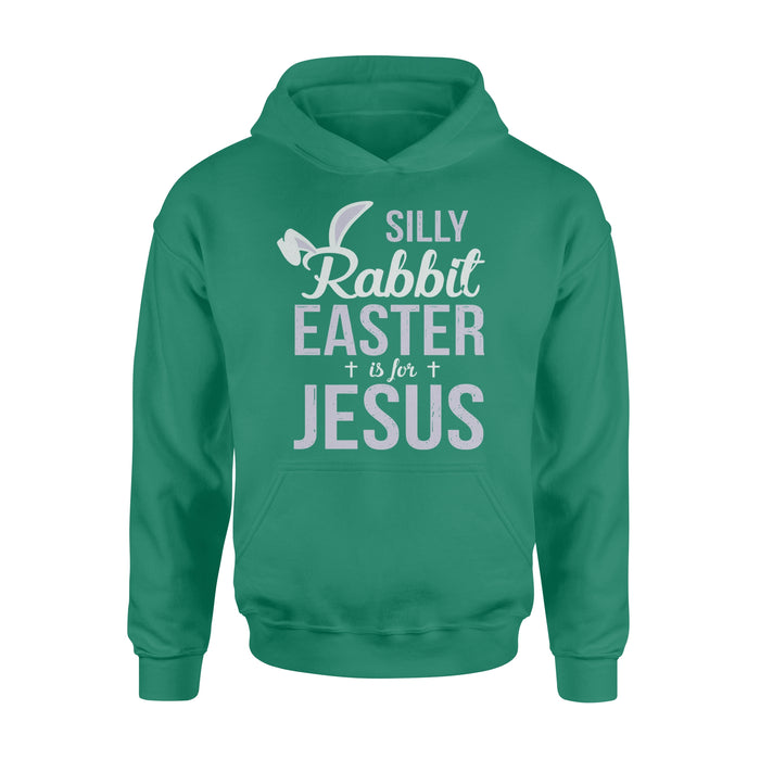 WildFreeSpirit Jesus Shirt Funny Christian T Shirt Silly Rabbit Easter Is For Jesus - Standard Hoodie