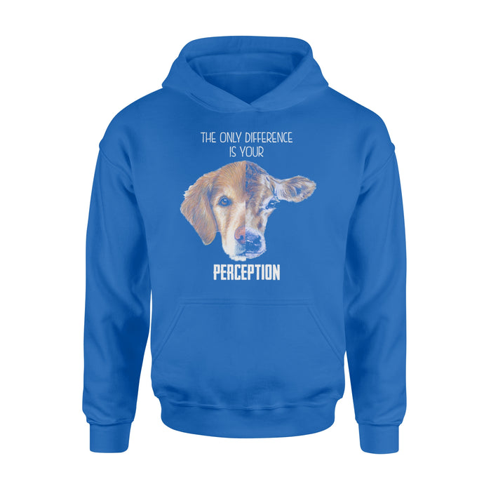 WildFreeSpirit Vegan Shirts The Only Difference Is Your Perception - Standard Hoodie