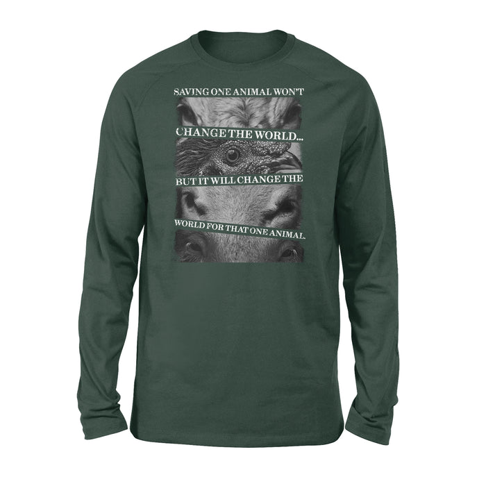 WildFreeSpirit Vegan Shirts Saving one animals - Standard Long Sleeve