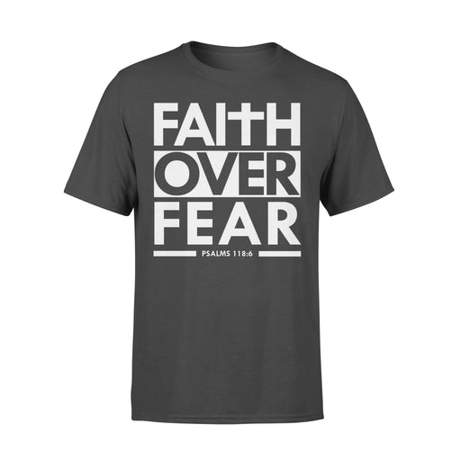 WildFreeSpirit Jesus Shirt Funny Christian T Shirts Faith Over Fear - Standard T-shirt
