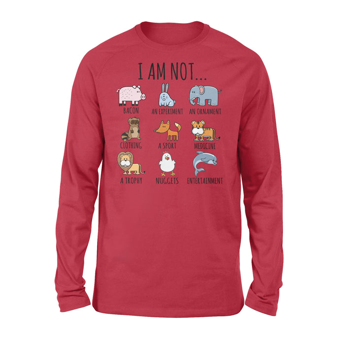 WildFreeSpirit Vegan Shirts  I Am Not - Standard Long Sleeve