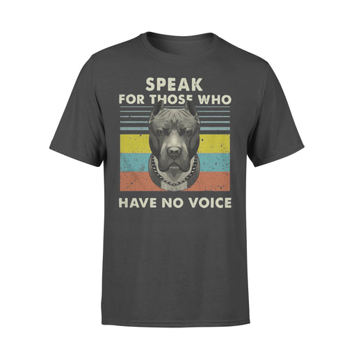 WildFreeSpirit Pitbull Shirt Speak For Those Who Have No Voice - Standard T-shirt