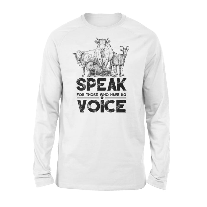 WildFreeSpirit Vegan Shirts Animal  Voice - Standard Long Sleeve