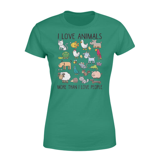 WildFreeSpirit Vegan Shirts  I Love Animals More Than I Love People - Standard Women's T-shirt