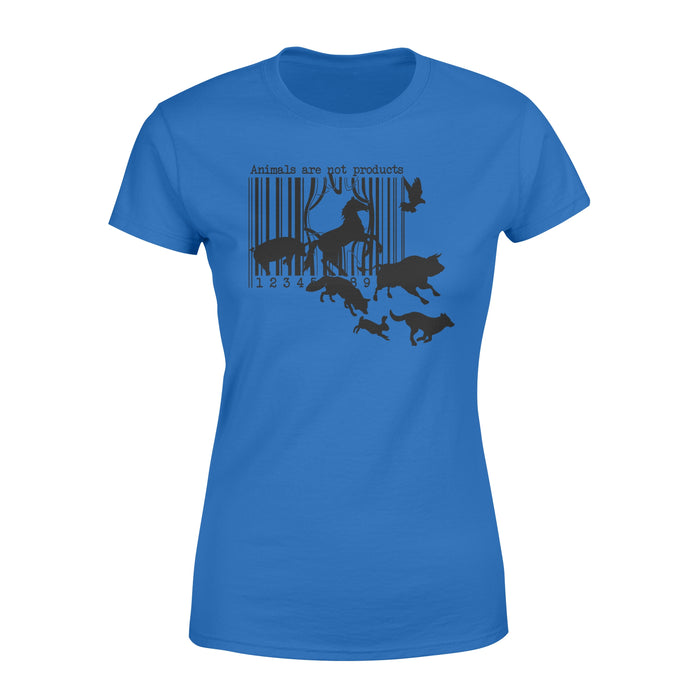WildFreeSpirit Vegan Shirts Animals Are Not Products - Standard Women's T-shirt