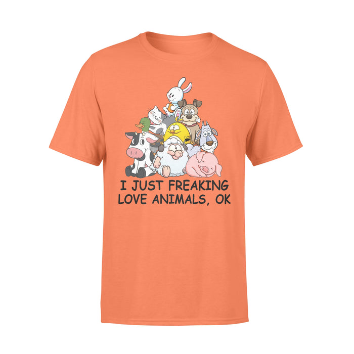 WildFreeSpirit Vegan Shirts  Just Freaking Love Animals Standard T-shirt