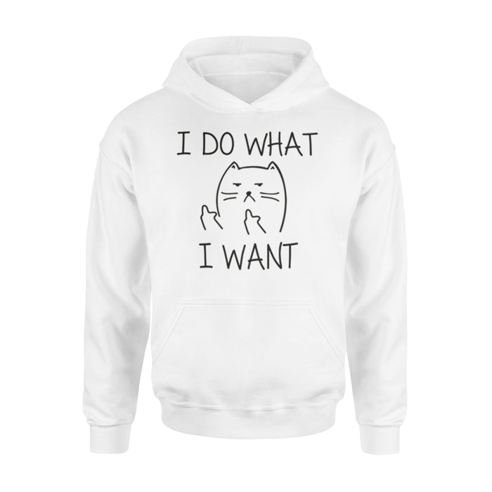 WildFreeSpirit Funny Cat Hoodie I Do What I Want