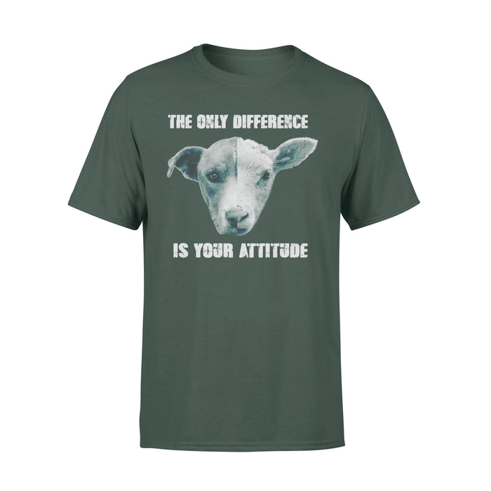 WildFreeSpirit Vegan Shirts The Only Difference Is Your Attitude - Standard T-shirt