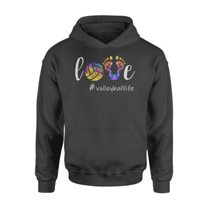 WildFreeSpirit Volleyball Shirts Love Volleyball Life - Standard Hoodie