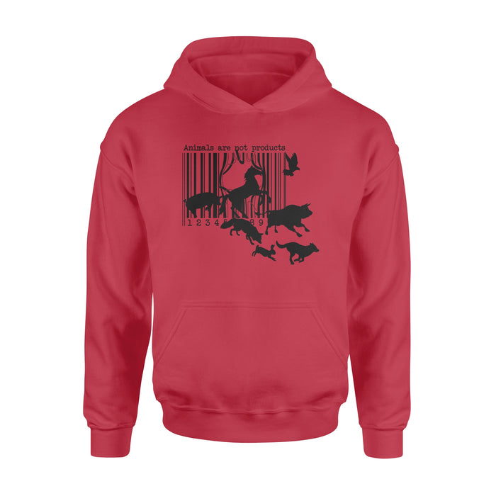 WildFreeSpirit Vegan Shirts Animals Are Not Products - Standard Hoodie