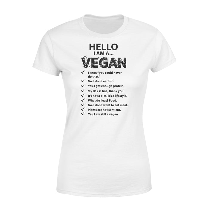 WildFreeSpirit Vegan Shirts  Hello I'm A Vegan - Standard Women's T-shirt