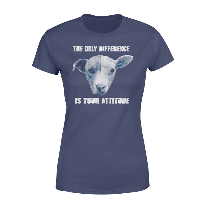 WildFreeSpirit Vegan Shirts The Only Difference Is Your Attitude - Standard Women's T-shirt