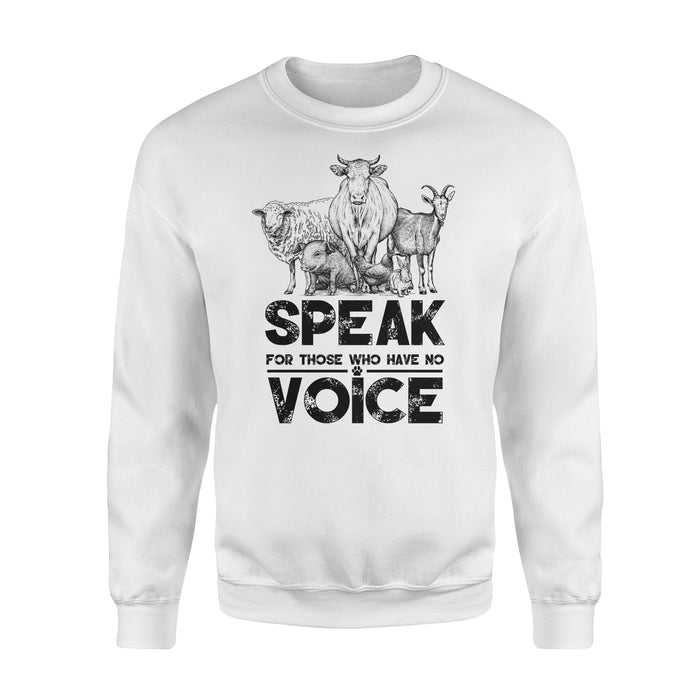 WildFreeSpirit Vegan Shirts Animal  Voice - Standard Fleece Sweatshirt