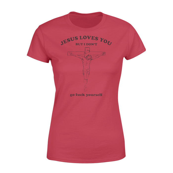 WildFreeSpirit Jesus Shirt Funny Christian T Shirts Jesus Love You - Standard Women's T-shirt