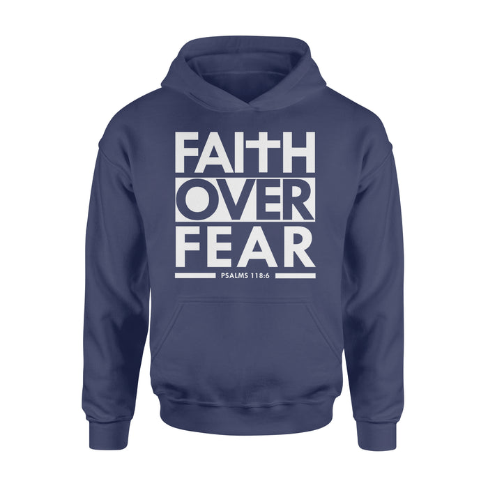 WildFreeSpirit Jesus Shirt Funny Christian T Shirts Faith Over Fear - Standard Hoodie