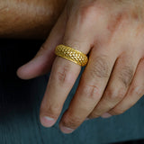 Men's Ring - Parametric Design - 18k Yellow Gold