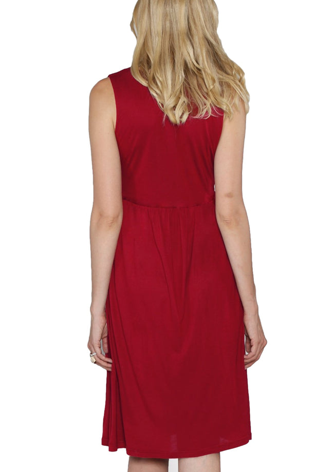 maternity dress - red